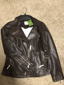 dcb2d55f8 Details about kate spade new york linnea moto leather jacket