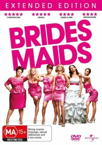 1 of 1 - Bridesmaids Brides Maids DVD, 2011 New Sealed Region 4 Extended Edition