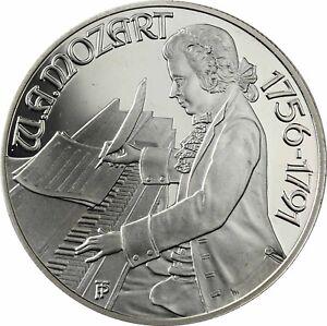 Osterreich-100-Schilling-1991-Mozart-in-Wien-Silbermuenze-Polierte-Platte