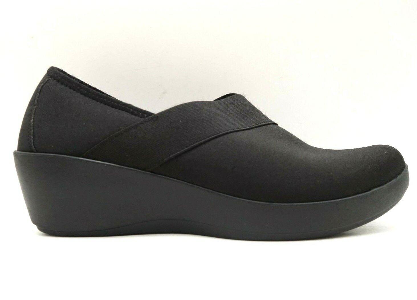 Crocs Black Dress Casual Slip On Wedge Heel Loafers Shoes Women's 11