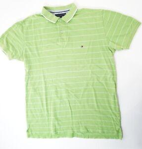 Tommy-Hilfiger-Poloshirt-Herren-Gr-XL-gruen-gestreift-Pique-S1270