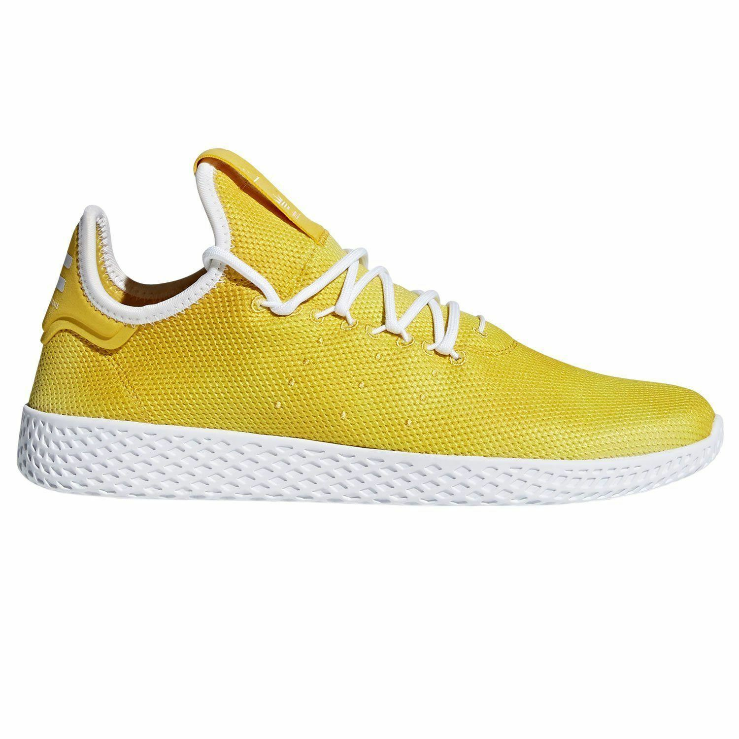 adidas PHARRELL WILLIAMS HU TENNIS SHOES YELLOW SNEAKERS TRAINERS KICKS MEN'S