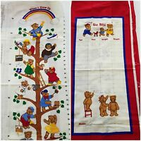 Teddy Bear Growth Chart Vip Cranston Cut N Sew Fabric Panel When I Grow Up