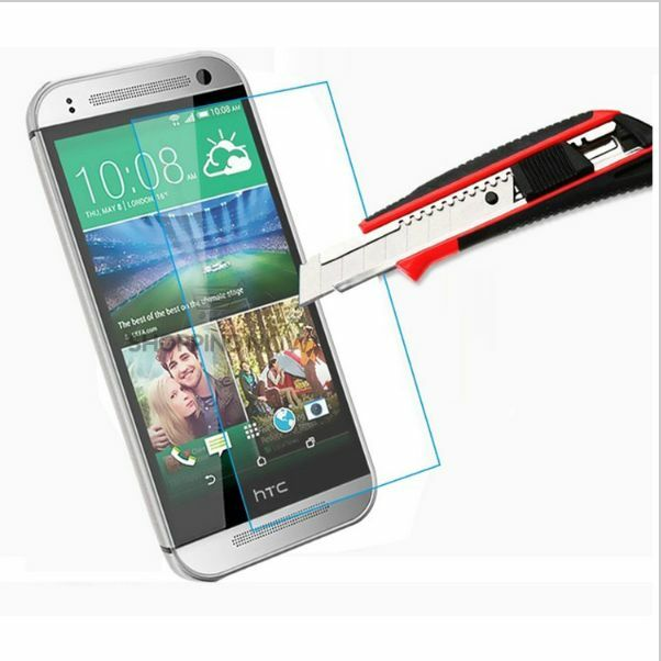 Tempered Glass Screen Protector for HTC One M8 2.5D Rounded End High Quality