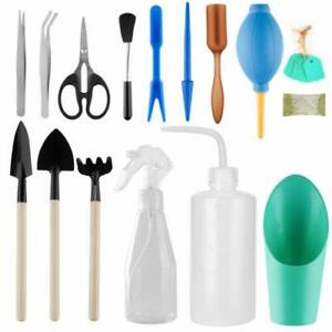 16 pcs Mini Gardening Tool Set Succulent Plants Tools Garden Plant Care US New
