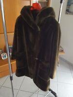 giaccone in pelliccia ecologica da donna taglia M (46-48) made in italy