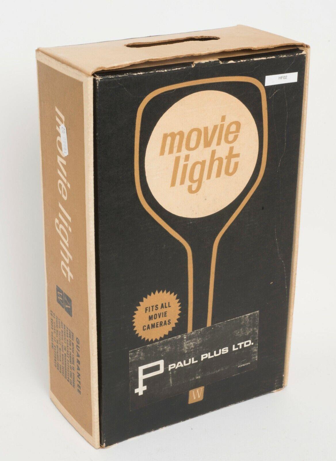 Vintage Bakelite 1960s Movie Light Paul Plus Ltd 650 watt. Boxed (HF02)