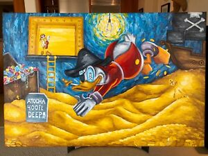 Treasure-Painting-JR-Bissell-Scrooge-Atocha-Shipwreck-Pirate-Gold-Coins-Artist
