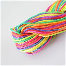 1Roll Nylon Cord Thread Chinese Knot Shamballa Bracelet Braided Colored 25m