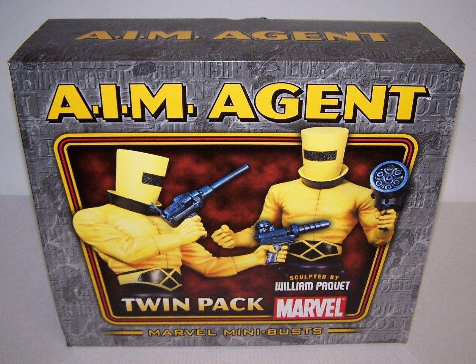 A.I.M. agente Twin Pack Marvel 6  mini-bustos Bowen Designs  1500 Nuevo En Caja