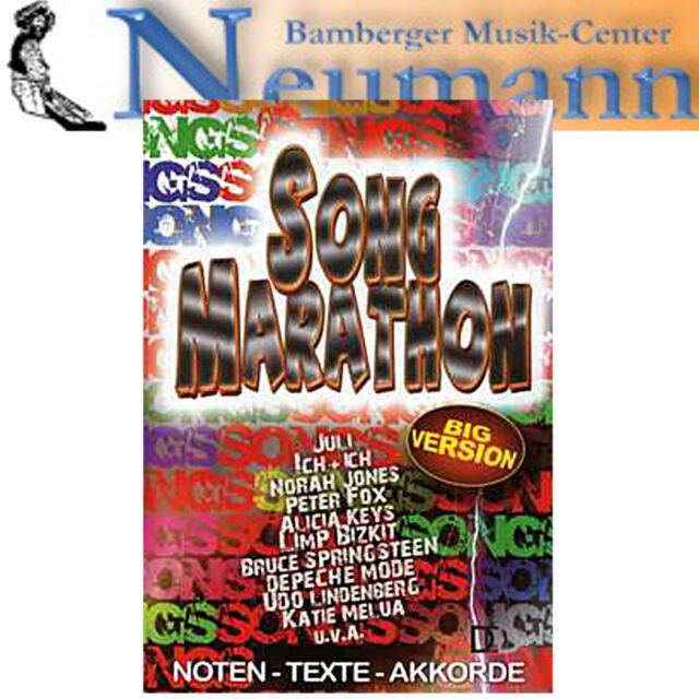 Song Marathon Big Version Songbook Melodie Texte Akkorde Dietrich Kessler