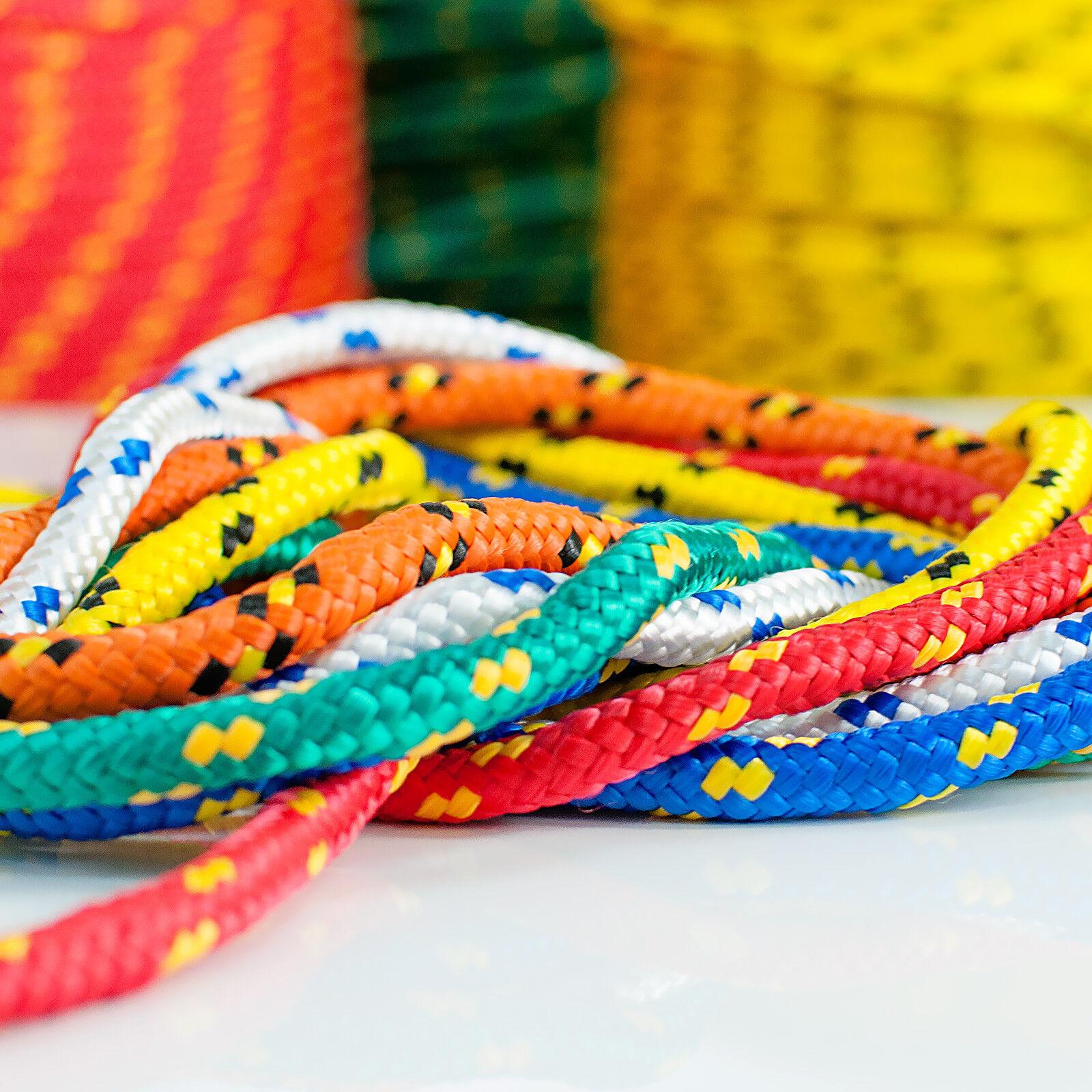 Polypropylen Seil ab 1 Meter Flechtleine Tauwerk Tau Polypropylenseil PP Seile