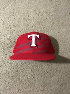 New-Era-59-50-Texas-Rangers-2015-July-4th-Stars-Stripes-Red-Fitted-Hat-Cap-7-3-4