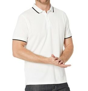 John-Varvatos-Star-USA-Men-039-s-Short-Sleeve-Dover-Tipped-Pique-Polo-Shirt-White
