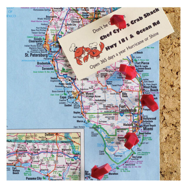Design Ideas SET OF 12 RED ARROW Push Pin Pushpins Memo Holder #3206001