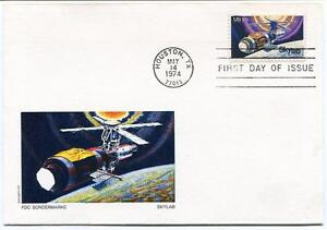 HonnêTe 1974 Skylab Fdc Sondermarke Houston Texas Usa Space Shuttle Nasa
