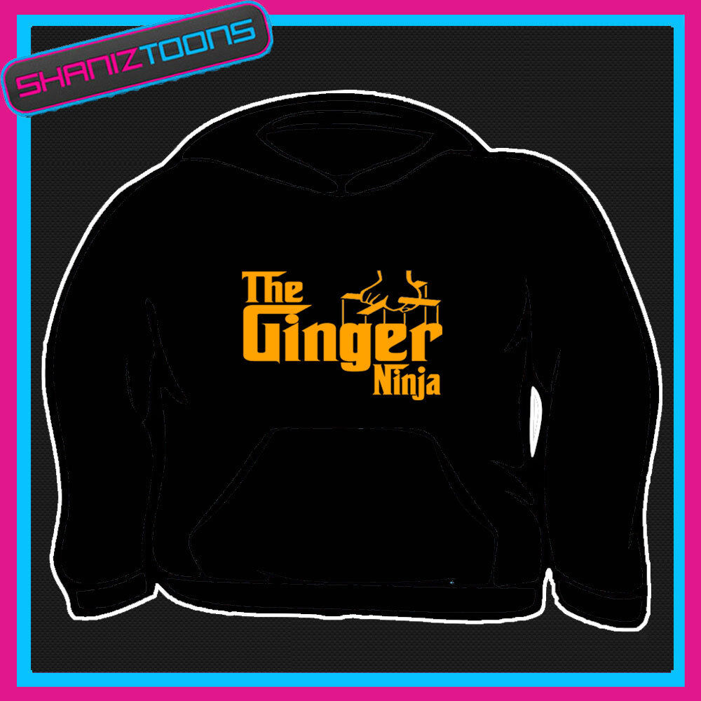 THE GINGER NINJA GINGER HAIR FUNNY HOODY HOODIE ALL SIZES & COLOURS
