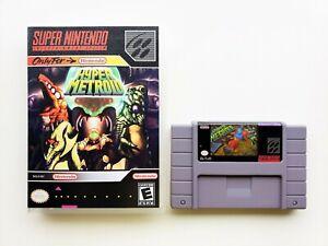Hyper-Metroid-Game-Case-Fan-Made-SNES-Super-Nintendo-USA-Seller