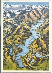 Cartina Stradale Lago Maggiore.83417 Lago Maggiore Cartolina Effetto Carta Geografica Timbro