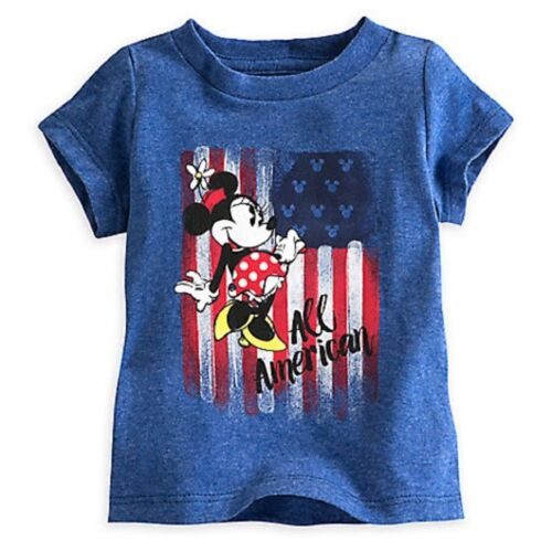 Disney Store Minnie Mouse AMERICANA Tee Shirt For Baby Age 18-24 M to 92 cms