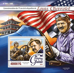 Guinea-2016-MNH-Louis-CHEVROLET-75-MEMORIAL-ANNIV-IV-S-S-CARS-TIMBRI