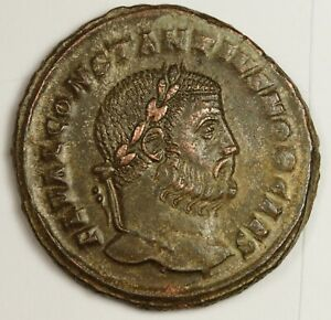 Roman Empire Constantius  305-306 AD.   High Grade.  139207