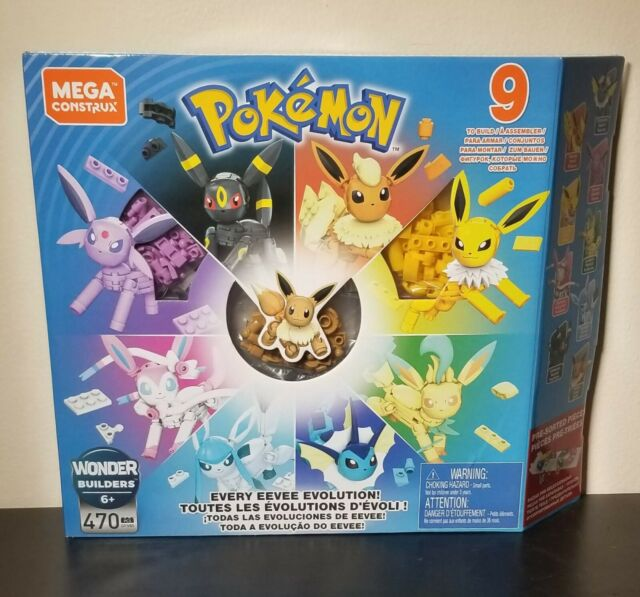 MEGA Construx Pokemon Every Eevee Evolution 470 pcs GFV85 - 9 To Build - NEW