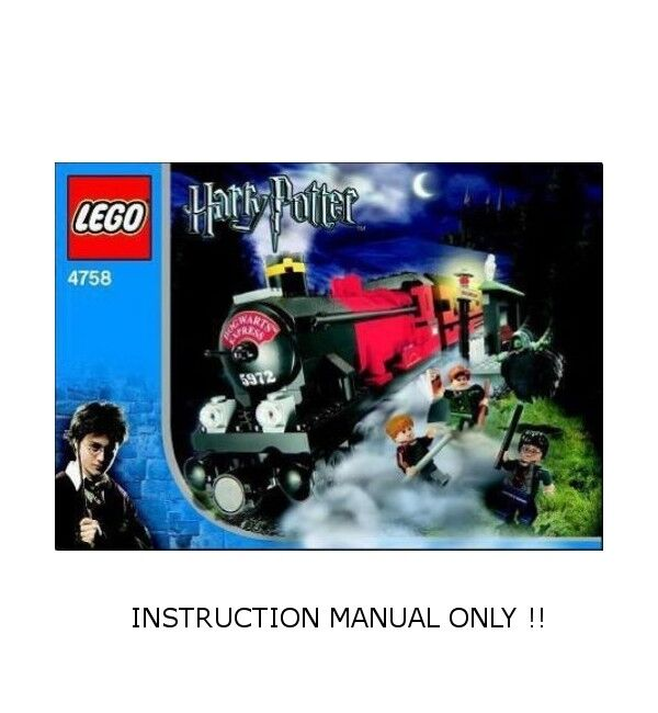 (Instructions) for LEGO 4758 - Hogwarts Express - INSTRUCTION MANUAL ONLY
