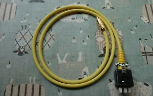 Single-QUAD-II-Monoblock-Jones-Plug-to-phono-plug-leads-1-meter-in-Yellow