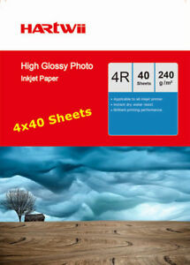 4x6-230-240-Gsm-High-Glossy-Photo-Inkjet-Paper-102x152mm-6x4-Hartwii-160Sheets