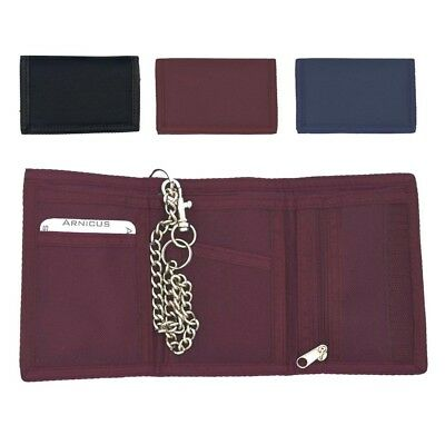 Mens//Boys//Childrens Canvas Style Ripper Wallet with Chain