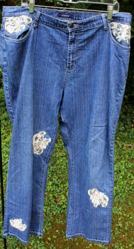 Bill Blass Womans Denim Blue Jeans Stretch 18W Cre