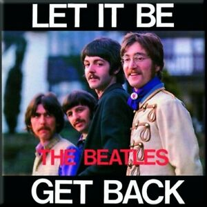 THE-BEATLES-Let-It-Be-Get-Back-fridge-magnet-3-034-square-free-UK-P-amp-P