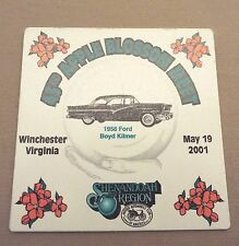WINCHESTER, VA 2001 AACA SHENANDOAH REGION APPLE BLOSSOM MEET DASH PLAQUE/SIGN