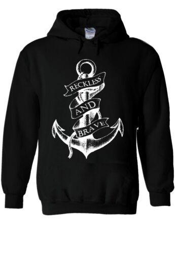Sailor Anchor Reckless And Brave Hoodie Sweatshirt Jumper Men Women Unisex 1997