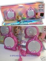 Bratz Speakers For Computers Quality Sound Set Of 2 Hot Pink Bratz 1 Box