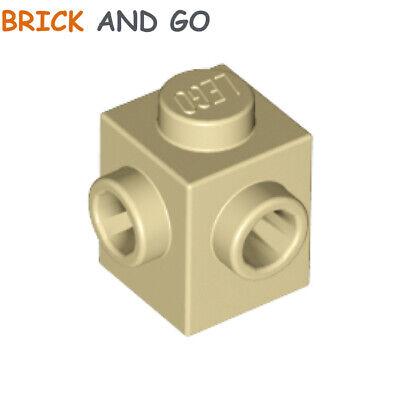 Lego 4x Brick Brick Modified 1x1 stud 1 side beige//tan 87087 NEW