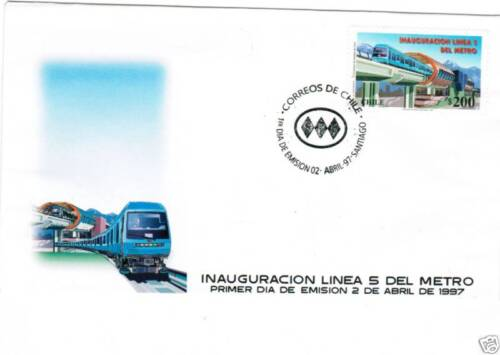 Chile 1997 Subways Urban Transport Santiago Metro FDC