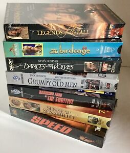 NEW-Sealed-VHS-Movie-Lot-7-1990-039-s-Hit-Movies-Speed-Fugitive-Birdcage-90s