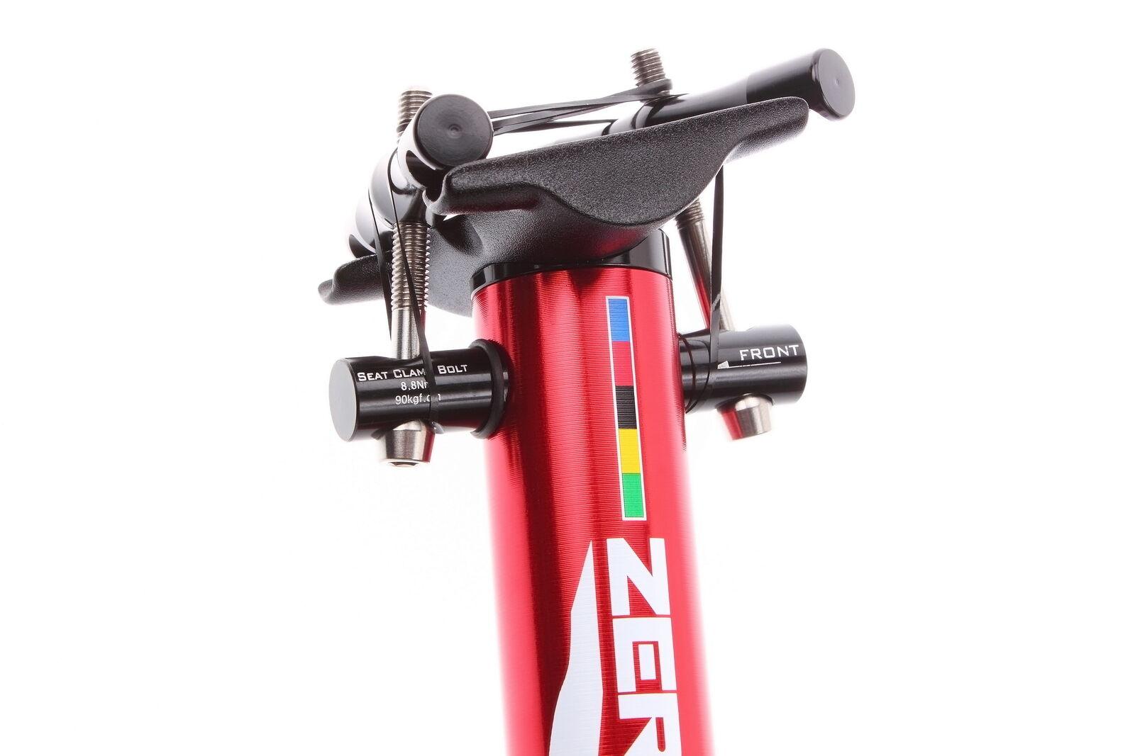 Aerozine XP-Zero Tige de selle Vélo Route CX VTT Bicyclette 27.2mm 400mm red