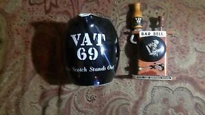 RARE VAT 69 HAWAII BOTTLE OPENER and PITCHER /BAR BELL RING FOR ANOTHER ROUND