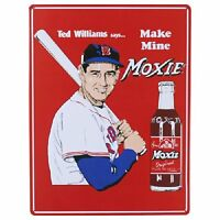 Ted Williams Make Mine Moxie Red Sox Baseball Mlb Retro Vintage Metal Tin Sign