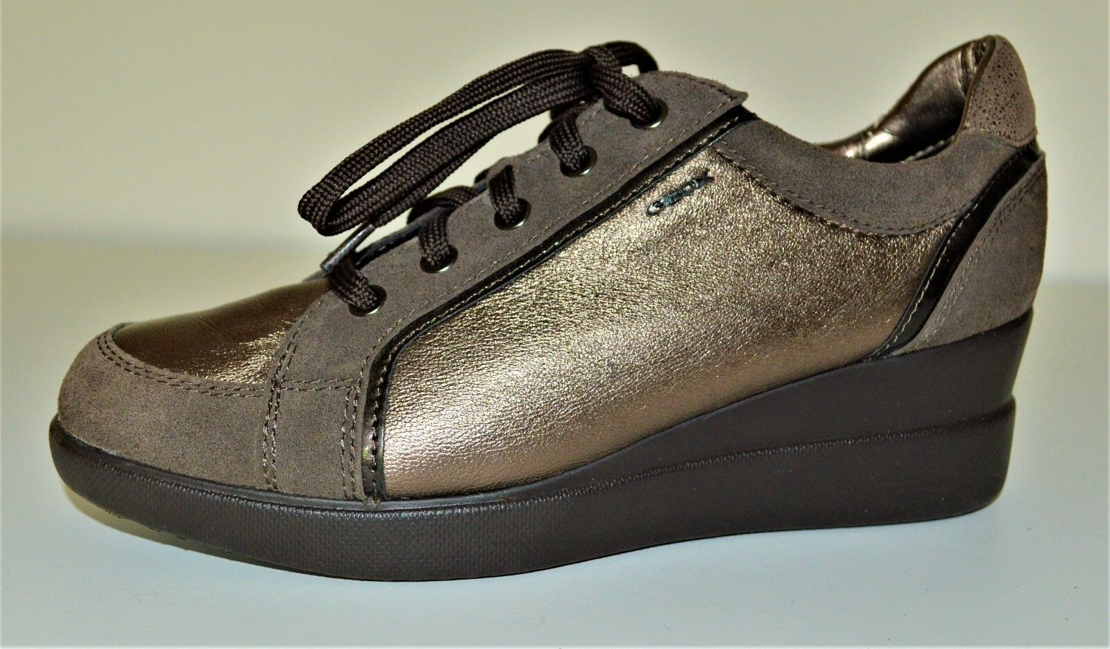 GEOX Stardust Donna's Casual Metallic Wedge Shoes –Size 8/39