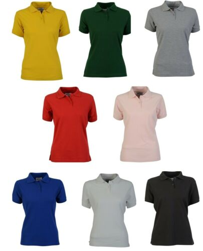 Absolute Apparel Ladies T Elegant Short Sleeve Womens Fitted Polo Shirt Top Tee