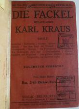 Die Fackel, Karl Kraus, Die Fackel 1926, Zeitschriften, Literatur,