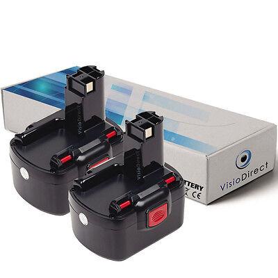 Lot de X2 batteries 14.4V 3000mAh pour BOSCH GSB 14.4 V Société Française