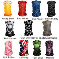 Polyester Tube Ski Mask - 6 In 1 Motorcycle Biker Skull Usa Full Face Masks +