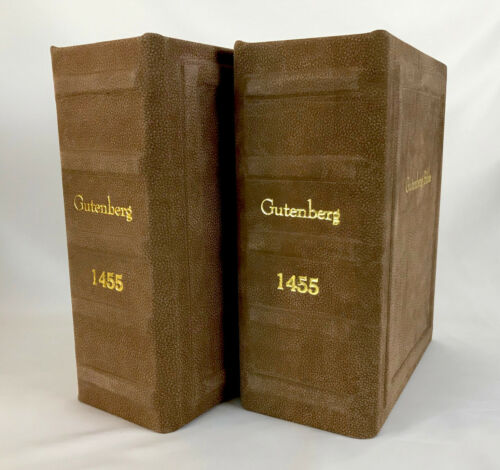 Gutenberg Bible Leather Reproduction