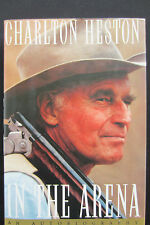 Sale-Handsigned Charlton Heston 'In the Arena' Hardcover/1st Ed