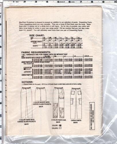 CHOICE MacPHEE Workshop Patterns  New /& UNCUT Coats Vest Pants Unisex